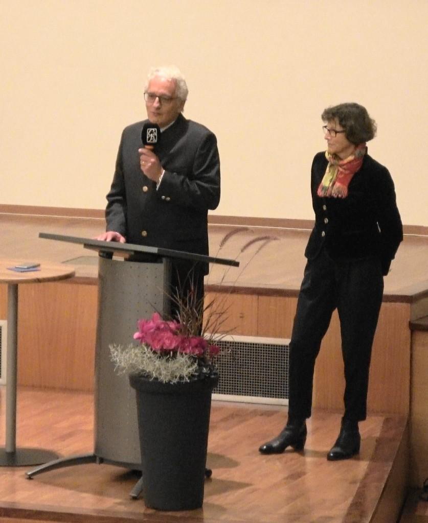 Empfang Grußworte - Dekan und Bürgermeisterin