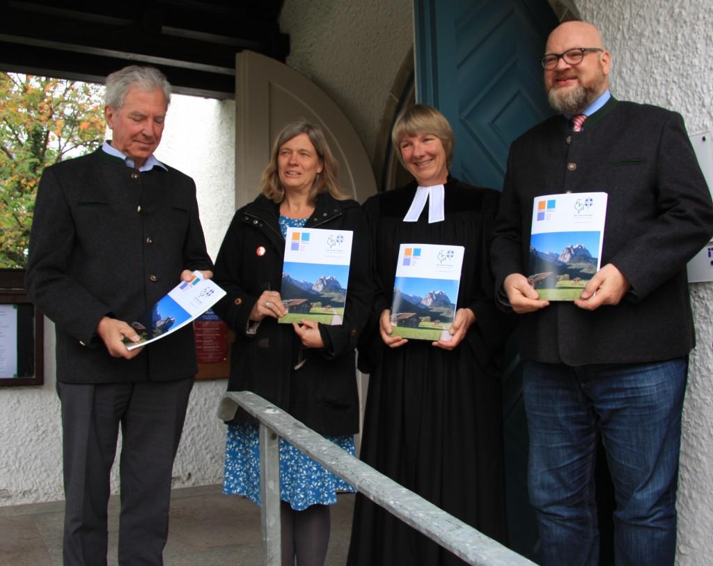 Prof. Dr. Klaus Schaefer, Ulrike Lorenz, Pfarrerin Ulrike Wilhelm, Pfarrer Martin Dubberke